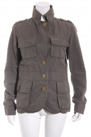 Closed Jeansjacke khaki Military-Look