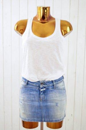 CLOSED Jeansrock Denim Rock Jeans Hellblau Used Mod. PEDAL VENUS Baumwolle Gr.26
