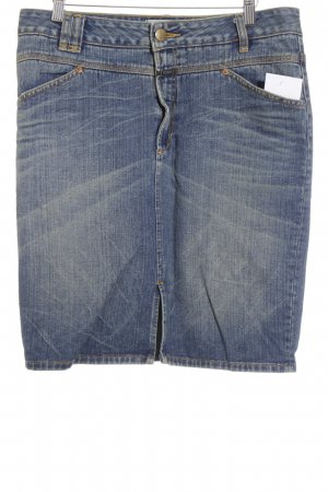 Closed Jeansrock dunkelblau-beige Destroy-Optik