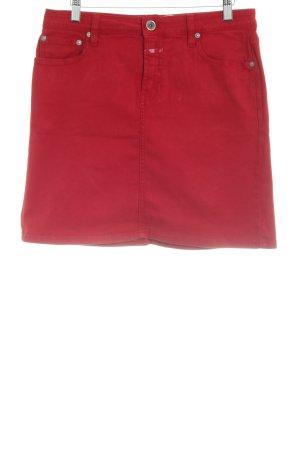 Closed Denim Skirt dark red casual look