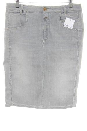 Closed Denim Skirt light grey casual look