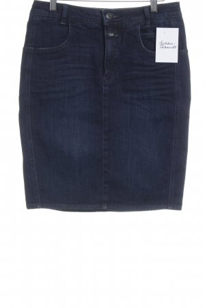 Closed Jeansrock petrol Jeans-Optik