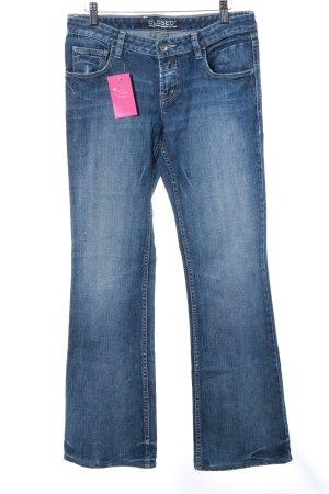 Closed Jeans a zampa d'elefante blu scuro stile jeans