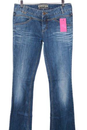 Closed Jeans a zampa d'elefante blu acciaio stile jeans