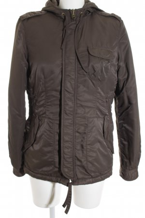 Closed Kapuzenjacke braun Casual-Look