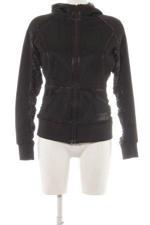 Closed Veste à capuche noir Aspect de combinaison de matériaux