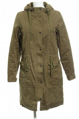 Closed Hooded Coat olive green casual look
