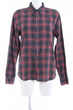 Closed Checked Blouse red-black check pattern business style