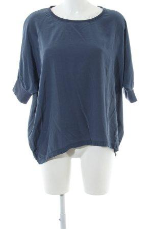 Closed Kurzarm-Bluse blau Casual-Look
