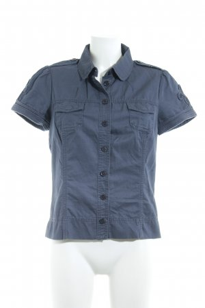Closed Kurzarm-Bluse graublau Casual-Look