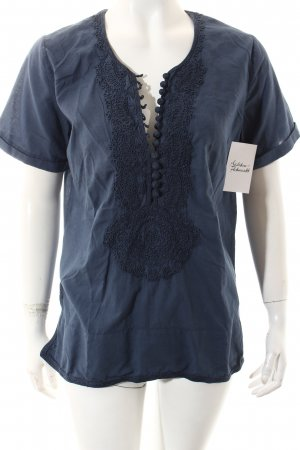 Closed Kurzarm-Bluse graublau Gypsy-Look