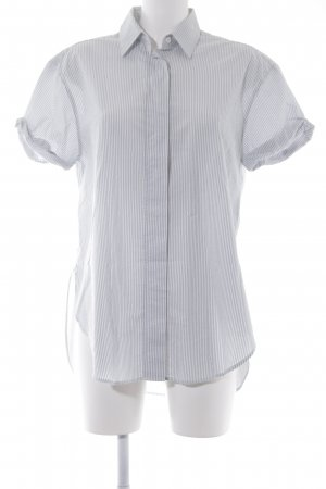 Closed Short Sleeve Shirt natural white-azure striped pattern casual look
