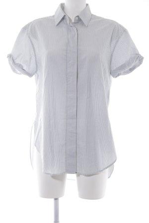 Closed Camicia a maniche corte bianco sporco-azzurro motivo a righe stile casual