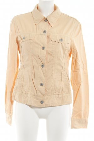 Closed Short Jacket apricot simple style