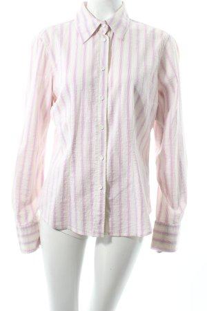 Closed Langarm-Bluse creme-rosa Streifenmuster klassischer Stil