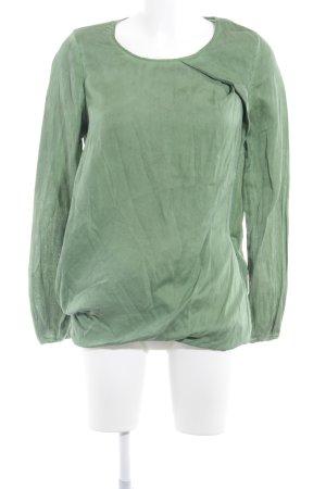 Closed Langarm-Bluse grasgrün-dunkelgrün Casual-Look