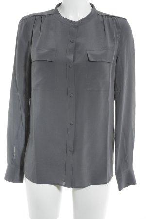 Closed Langarm-Bluse graublau Casual-Look
