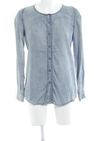 Closed Langarm-Bluse himmelblau Jeans-Optik
