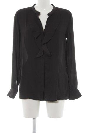 Closed Langarm-Bluse schwarz klassischer Stil