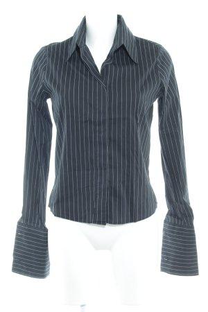 Closed Langarm-Bluse schwarz Nadelstreifen klassischer Stil