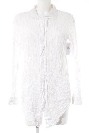 Closed Blusa de manga larga blanco estampado acolchado look casual