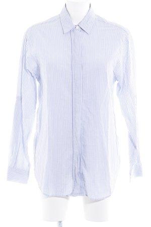 Closed Langarmhemd weiß-blassblau Streifenmuster Casual-Look