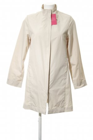 Closed Long Jacket oatmeal minimalist style