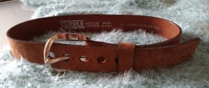 Closed Leather Belt light brown leather