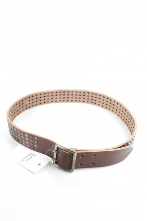 Closed Leather Belt multicolored biker look