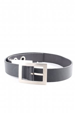 Closed Ledergürtel schwarz-silberfarben klassischer Stil