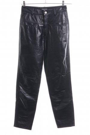 Closed Leather Trousers black extravagant style