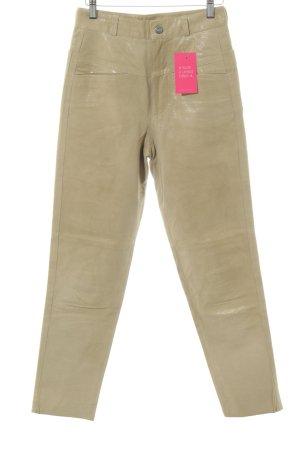 Closed Pantalone in pelle color carne stile stravagante