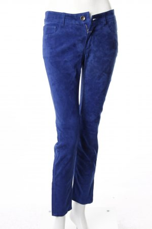 Closed Lederhose blau