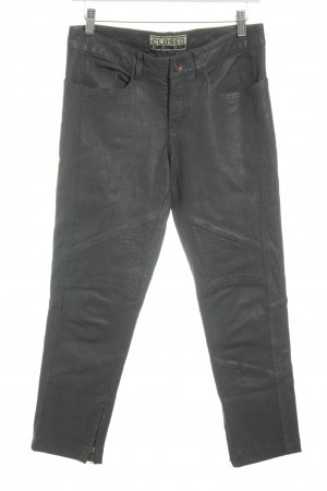 Closed Lederhose grau Biker-Look