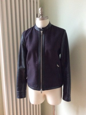 Closed Leather Jacket black-dark blue