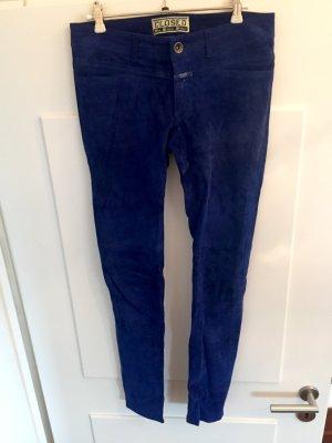 Closed Pantalone in pelle blu