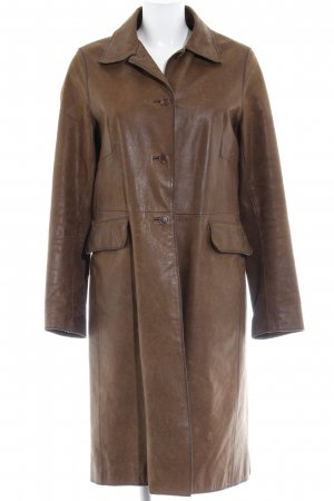 Closed Leather Coat brown-blue casual look