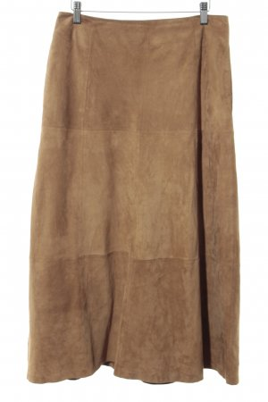 Closed Leather Skirt camel casual look