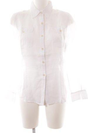 Closed Blusa de lino blanco-crema estilo safari