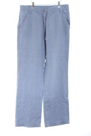 Closed Pantalón de lino azul look casual