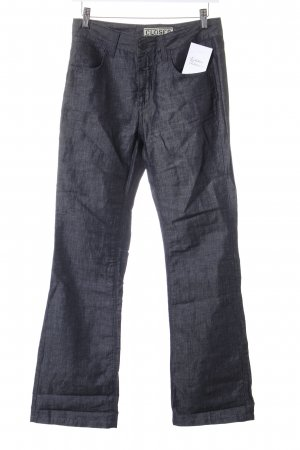 Closed Pantalón de lino gris antracita estilo clásico