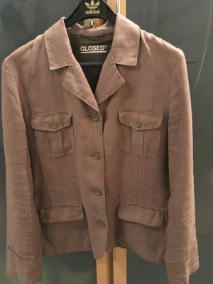 Closed Veste safari brun sable lin
