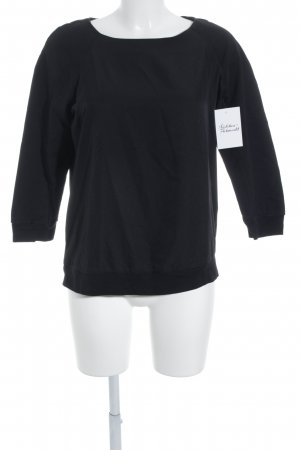 Closed Longsleeve schwarz Materialmix-Look