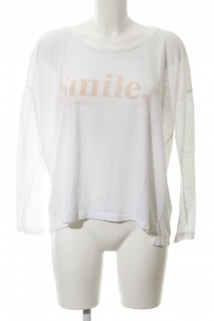 Closed Longsleeve white-apricot printed lettering casual look