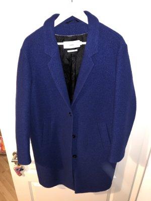 Closed Wollen jas zwart-blauw