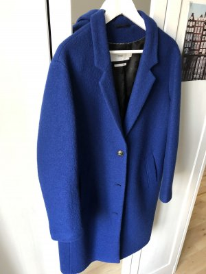 Closed Manteau en laine noir-bleu