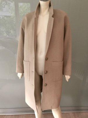 CLOSED Mantel Beige Braun Kamelhaar Wolle XS 34-36 Oversized Camel Coat Brown