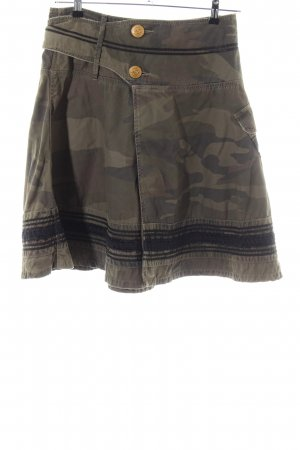 Closed Midirock Camouflagemuster Casual-Look