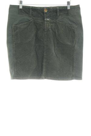 Closed Miniskirt khaki casual look