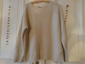 CLOSED: Neuwertiger Alpaka Strick Pullover in creme